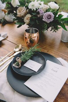 Image result for kinfolk wedding place settings