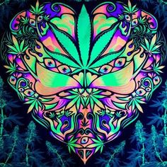 Glow in the dark tapesrty, Cannabis UV Fluorescent Glow Psytrip Psyart Backdrop Banner Trippy Visionary Tapestry Acid Tripvision Marijuana Cannabis, Psychedelic Experience, Psychedelic Art, Arte Hippy, Trippy Tapestry, Hippy Room, Alex Grey, Psy Art, Ganja