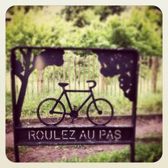 Signage ideas for cycling lodge in France.