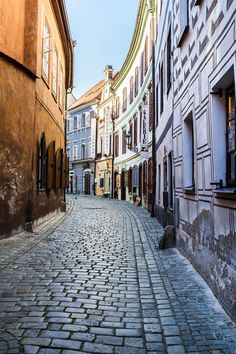 Travel photography, Europe, Cobblestone, Old Town, Cesky Krumlov