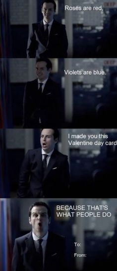 A valentine for normal peasants and the crazy Sherlock fandom