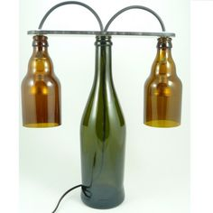PREZENT extra. Lampa z ręcznie ciętych butelek  / GIFT extra. Lamp made with manually cut bottles