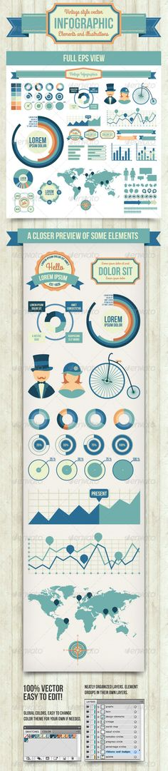Infographic Elements Template Pack 05 | Infographic, Templates and ...