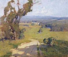 WILLIAM DUNN KNOX (1880-1945) | THE YARRA VALLEY | Christie's Landscape Tattoo, Landscape Art, Landscape Paintings, Landscape Design, Garden Design, Australian Painting, Australian Artists, Traditional Landscape, Traditional Paintings