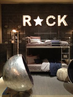 Restoration Hardware Rock Star Boys Bedroom
