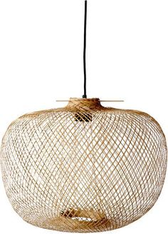 Beautiful lamp in the trendy nature look. Wicker wicker basket lamps are a top trend theme for natural furnishings. socket and ceiling suspension. Lighting Sale, Pendant Lighting, Pendant Lamps, Bamboo Pendant Light, Lustre Metal, The Cool Republic, Deco Luminaire, Bamboo Weaving, Pallets