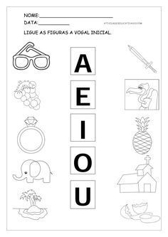 1 million+ Stunning Free Images to Use Anywhere Vowel Activities, Preschool Learning Activities, Therapy Activities, Kids Learning, Tracing Worksheets, Preschool Worksheets, Special Education Behavior, Bilingual Classroom, School Subjects