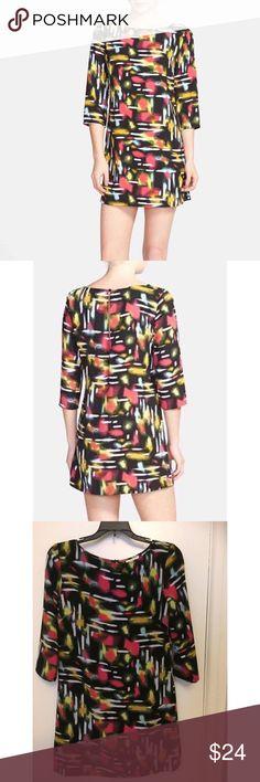 Multi Color Print Shift Dress Worn few times but still very nice Tildon Dresses