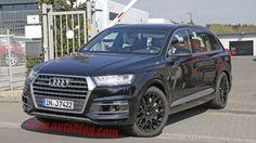 Audi SQ7 spy shot front three quarters