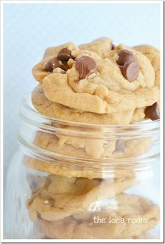World's Best Peanut Butter Chocolate Chip Cookies- making these right now