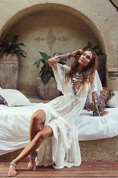 Boho Dresses - Bohemian Dresses - Tree of Life Estilo Hippie, Hippie Chic, Boho Chic, Gypsy Style, Boho Gypsy, Hippie Style, Bohemian Style, Looks Hippie, Hippie Vintage