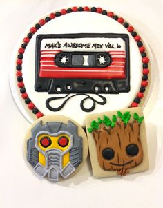 Guardians of the Galaxy cookies, Star Lord cookies, Groot cookies