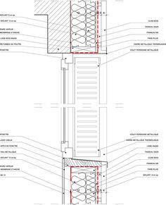 Vous Êtes Ici Architectes : 11 logements sociaux à Paris - ArchiDesignClub by MUUUZ - Architecture & Design detail gevel doorsnede