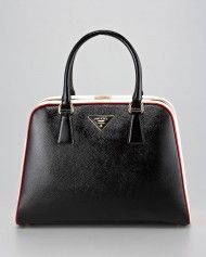 Prada Pyramid Frame Bag in Black (nero) so gorgeous
