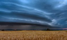 approaching shelfcloud Eisenach, Germany. Photography by  André Bock