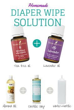 2 drops Tea Tree, 1 drop Lavender, 1 TBS oil, 1 TBS castile soap, 1 cup water