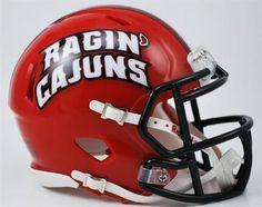Louisiana Lafayette Mini Riddell Speed Football Helmet