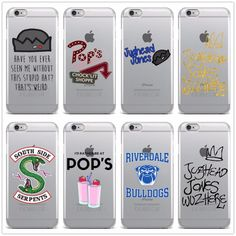 Sizzling TV Riverdale Comfortable Clear TPU Fundas For Iphone Case