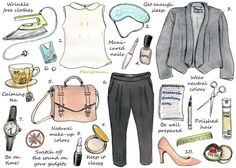 The key to a good job interview is preparation. You're more likely to be nervous if you're inadequately prepared.How you should prepare exactly, and what you should wear, depends of course on what kind of job you're applying for and at which company. But the tips in this week's illustrated how-to will work for most job interviews. So good luck at your next one and see you next week! 1.Top by Anne Taylor Loft, $892. Sleep mask. Etsy, $18 3. Soft gray blazer, Joie, $178 4. Nail polish, ...