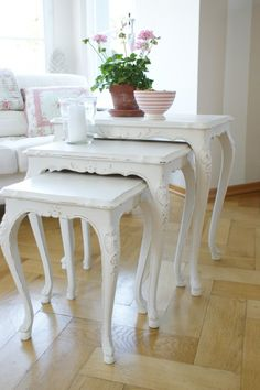 I love these stacking tables.