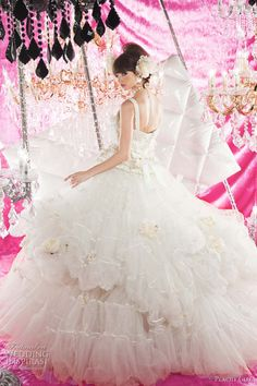 peachy girl wedding dresses - kawaii cute bridal gowns from Japan