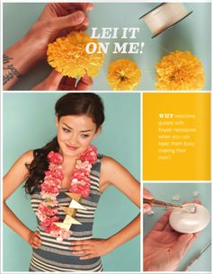 DIY Flower Lei