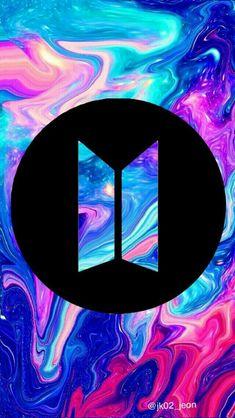 Bts new logo/ I'm loving it❤️ Bts Wallpapers, Bts Backgrounds, Bts Jungkook, Namjoon, Foto Bts, Army Wallpaper, Culture Pop, Les Bts, Billboard Music Awards