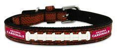 Arizona Cardinals Classic Leather Toy Football Collar