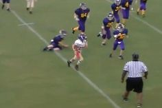 VIDEO: This might be the best rushing TD you'll see all day... and the kid is 10 years old
