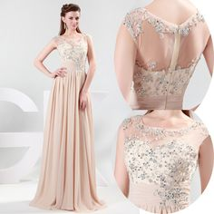 2013 Long Chiffon Bridesmaid Evening Formal Party Ball Gown Prom Dress #ShopSimple