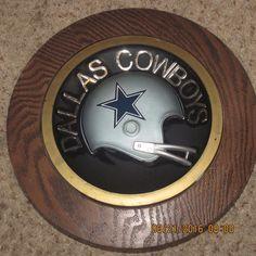 Vintage Old Dallas Cowboys NFL Football Helmet Wall Plaque 1970's RARE ✔ please retweet