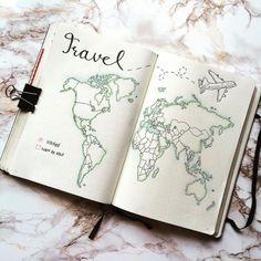 Bullet Journal Travel, Bullet Journal 2019, Bullet Journal Junkies, Bullet Journal Notebook, Bullet Journal School, Bullet Journal Themes, Bullet Journal Inspiration, Bullet Journals, Travel Journals
