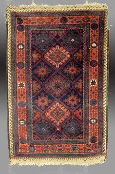 Vintage Antique Baluch Rug NE Persia 19th by tcEclecticImages