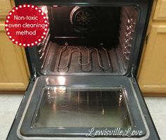I'm pinning again because I just did this and it truly DOES WORK!!!! Dawn is the magic ingredient.  Lewisville Love: Non-toxic oven cleaning