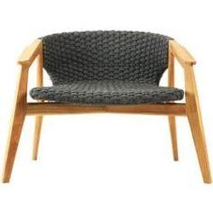 Sessel Lounge Knit Lounge Sessel / Synthetikfaden - Ethimo - Teak, Nature, Gris Lave EthimoEthimo Record of Knitting String rotating, . Office Lounge, Teak, Round Folding Table, Outdoor Furniture Design, Textiles, Table And Chairs, Lounge Chairs, Knitting Designs, Grey