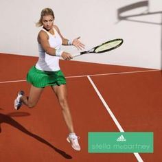 Maria Kirilenko - Adidas by Stella McCartney spring 2014 http://www.womenstennisblog.com/2014/02/12/green-spring-2014-stella-mccartney-tennis-fashion/