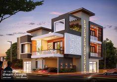 House Design Contemporary Architecture Ideas For 2019 Bungalow House Design, House Front Design, Modern House Design, Contemporary House Designs, House Elevation, Villa Design, Modern House Plans, Facade House, Building Design