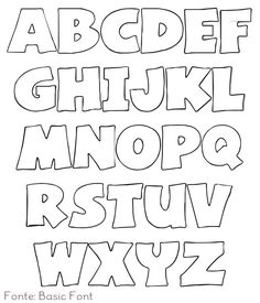 about Alphabet Templates on Pinterest | Templates, Free Printable ...