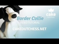 How to make a Border Collie Dog Cake Topper - Cake Decorating Tutorial - YouTube