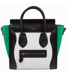 39c9b9448aeb Céline Luggage Extra 300 Off with Coupon Nano Multicolor White Green Nubuck  And Calfskin Leather Cross Body Bag 31% off retail