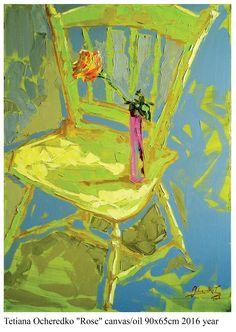 """Rose"" canvas/oil 90x60cm 2016 year"