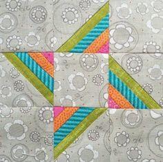 The Splendid Sampler - Block 80 Heartstrings Star designed by Elizabeth Dackson
