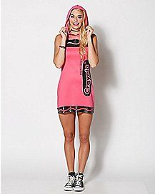 Adult Razzmatazz Pink Dress Costume - Crayola