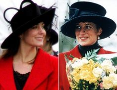 And the more Kate has begun to ease her way into royalty, the more she seems to resemble Princess Diana. here are some images of their styles lookalike .Have a look at them and you can easily make out.