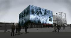Modern Architecture: Iceland Pavilion. Designed by Plús Arkitektar. What the...? Haunted house?