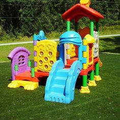 Daycare Playground Equipment or Toddler Playground Toddler Playground, Preschool Playground, Backyard Playground, Playground Ideas, Preschool Classroom, Daycare Spaces, Home Daycare, Daycare Ideas, Outdoor Play Equipment