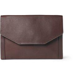 OMFG. I absolutely LOVE this!!!!     Full-grain leather document holder. By Lanvin via Mr Porter.