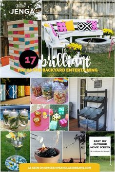 If you love to entertain outside, be sure to check out these 17 brilliant backyard entertaining hacks! From Mason jar luminaries to DIY yard Yahtzee, to a clever drink and snack storage station, to a