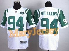 """$23.88 per one, welcome email """"MaryJersey"""" at maryjerseyelway@gmail.com 2015 NFL Draft Nike Jets 94 Leonard Williams White Men Stitched Elite Jersey"""