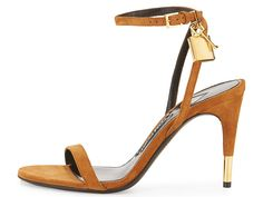 TOM FORD Suede 85mm Ankle Lock Sandal